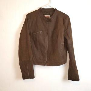 Levi's Brown suede Moto Jacket size XL
